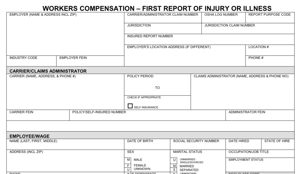 Reporting a work accident